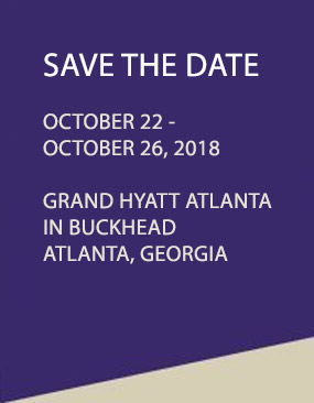 Save the Dates - Oct 22 - 26, 2018